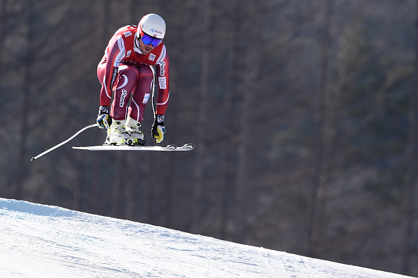 Norway's Kjetil Jansrud on his way to winning Saturday's downhill // Getty Images