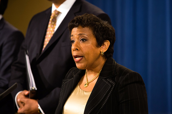 U.S. Attorney General Loretta Lynch on the FIFA matter last December in Washington // Getty Images