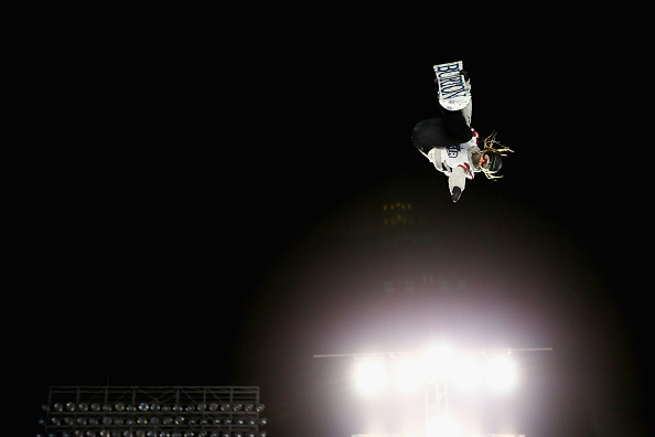 Women's winner Julia Marino, 18, of Westport, Conn., during the Big Air event at Fenway Park // Getty Images