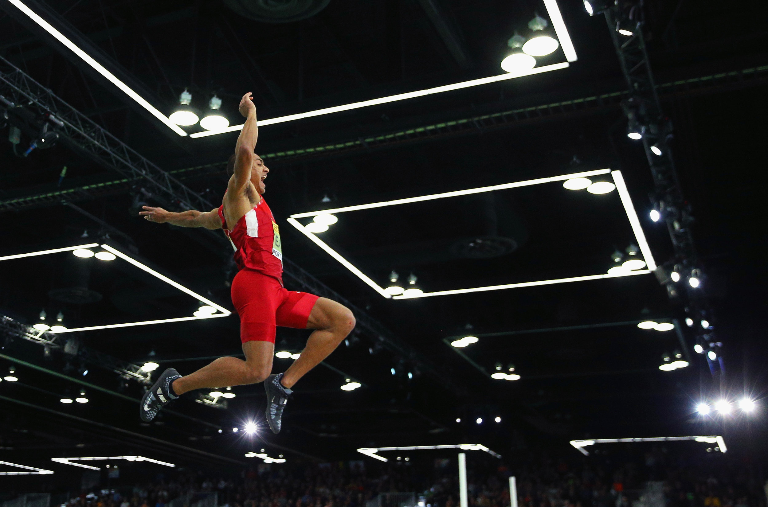 In the long jump portion of the heptathlon // Getty Images for IAAF