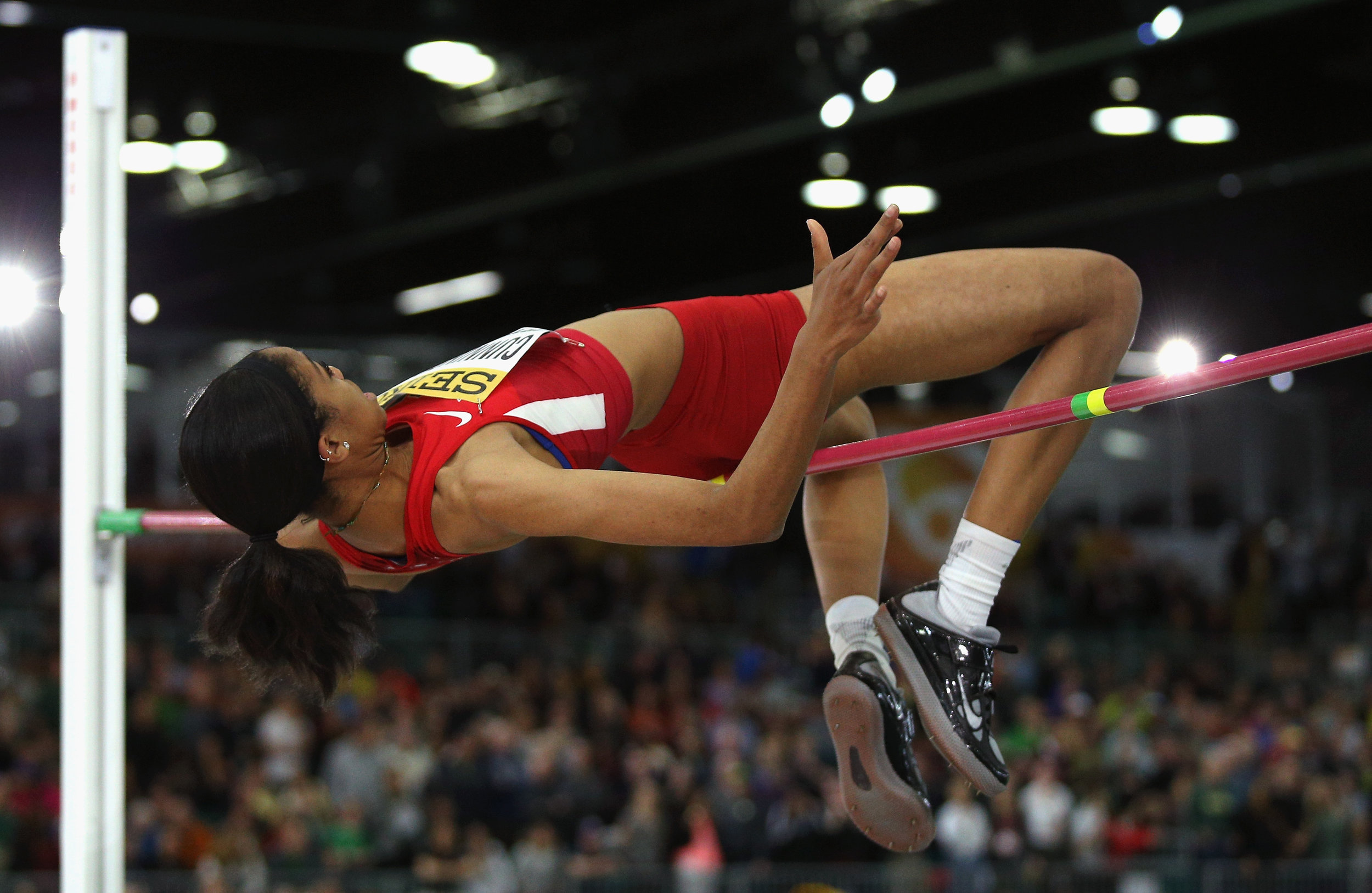 American teen Vashti Cunningham in the high jump // Getty Images for IAAF