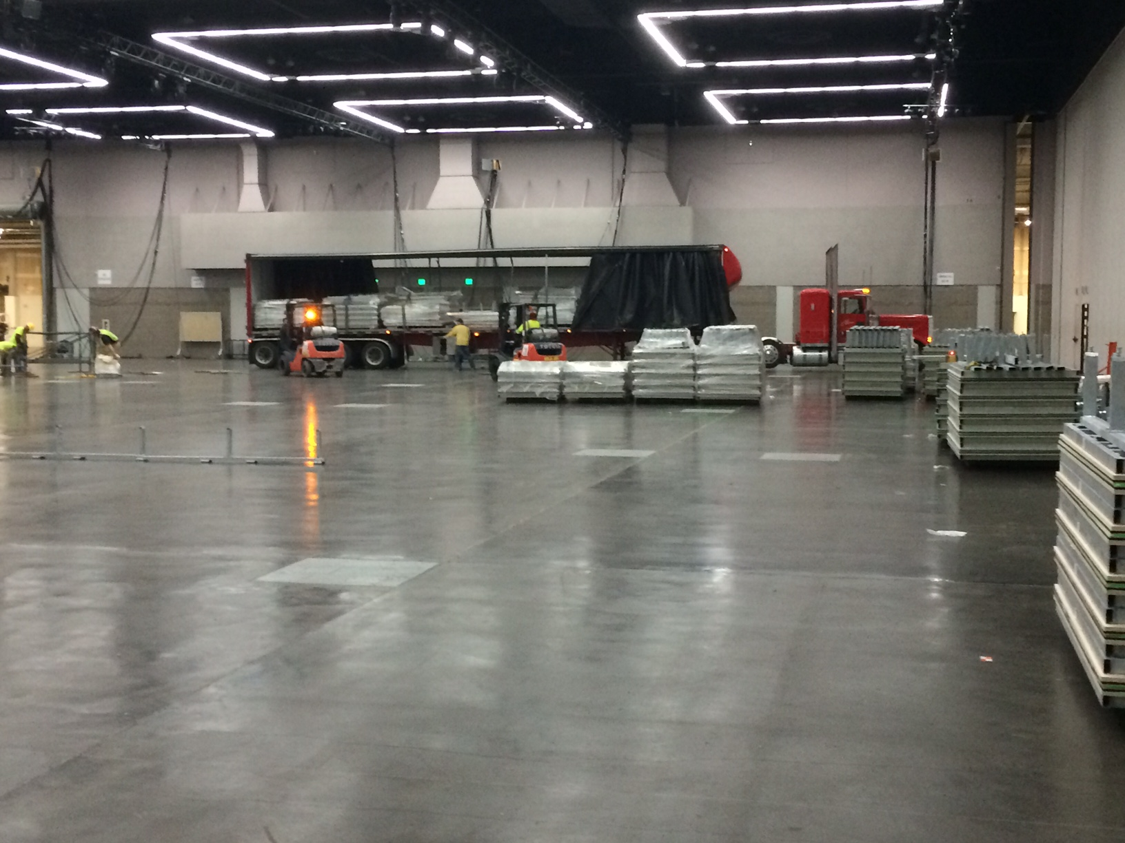 The convention center pre-track build-out // photo courtesy TrackTown USA