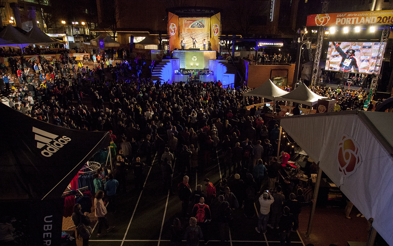The party at Pioneer Courthouse Square // photo TrackTown USA