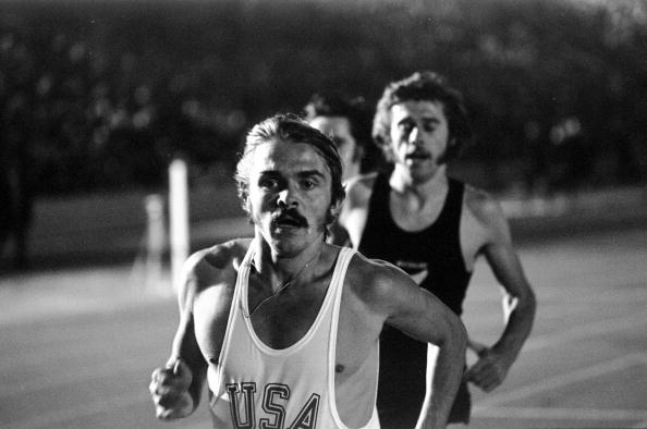 Steve Prefontaine racing in London in September 1972 // Getty Images
