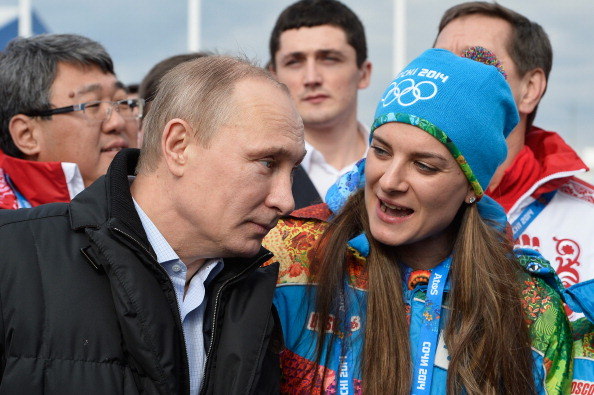 Putin and Isinbayeva in Sochi // Getty Images