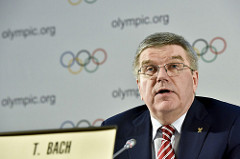 IOC president Thomas Bach at this month's meeting of the committee's policy-making executive board // IOC