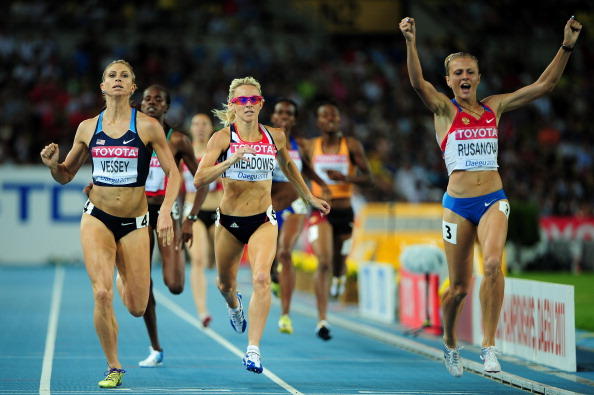 Yulia Stepanova, competing under her maiden name, at the 2011 IAAF world championship 800-meter semifinals // Getty Images