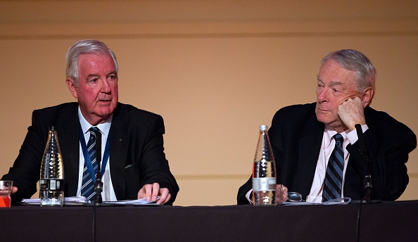 Current and former WADA presidents: Craig Reedie, left, and Dick Pound // Getty Images
