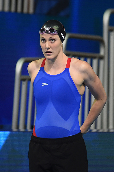 Missy Franklin before the 200 free semifinals // Getty Images