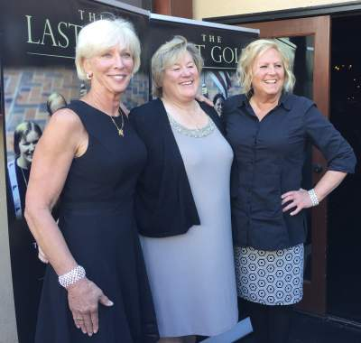 The three surviving members of the 1976 U.S. women's 4x100 gold medal-winning relay: left to right, Wendy Boglioli, Jill Sterkel, Shirley Babashoff