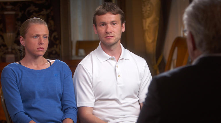 The Stepanovs in a recent appearance on '60 Minutes' // CBS News