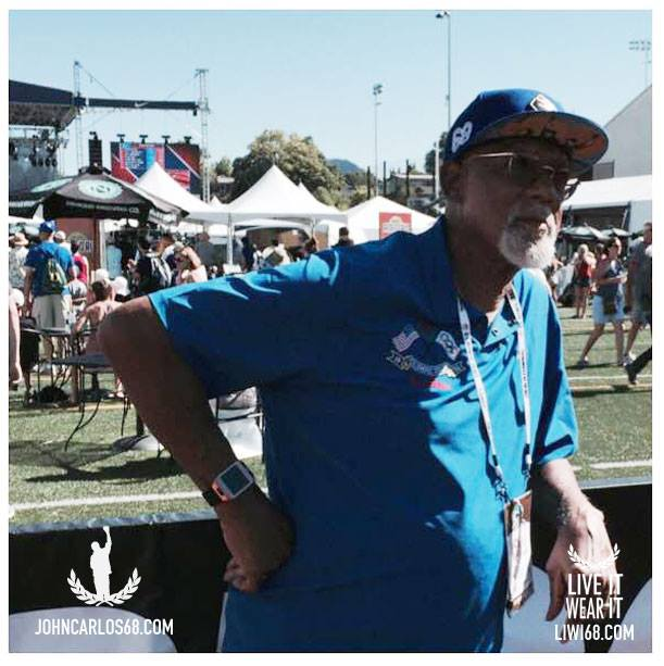 One of many pics from John Carlos' Sunday at Hayward // John Carlos Facebook page