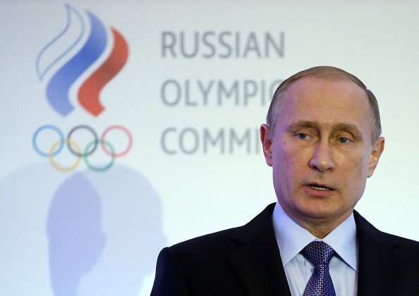 Russian president Vladimir Putin at an Olympic meeting last October in Moscow // Getty Images