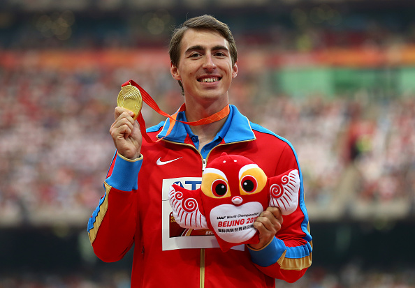 Hurdles gold medal-winner Sergey Shubenkov at last year's track world championships in Beijing // Getty Images