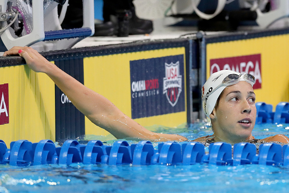 Maya DiRado, like Phelps and Ledecky a three-time Trials winner // Getty Images