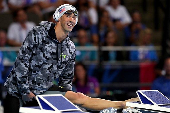Michael Phelps at his last Trials as a competitor // Getty Images