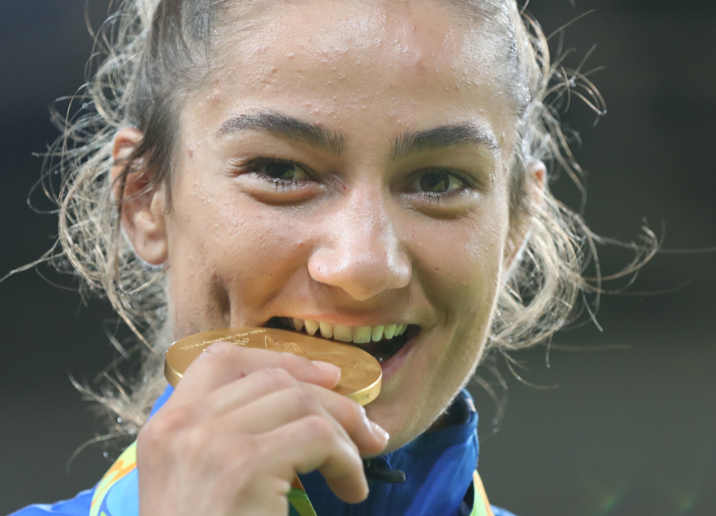 Kosovo's first-ever gold medalist, judoka Majlinda Kelmendi // photo IJF