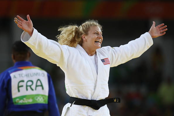 Kayla Harrison in the moment of triumph // Getty Images