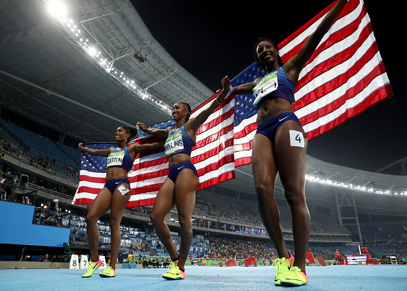 Left to right, Kristi Castlin, Brianna Rollins, Nia Ali // Getty Images
