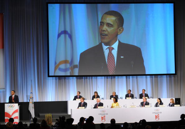 Time shows how we all change over seven years: President Obama in 2009 addressing the IOC on behalf of Chicago's 2016 bid // Getty Images
