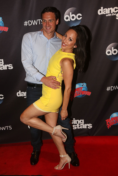 Ryan Lochte and Cheryl Burke in this week's DWTS publicity tour // Getty Images