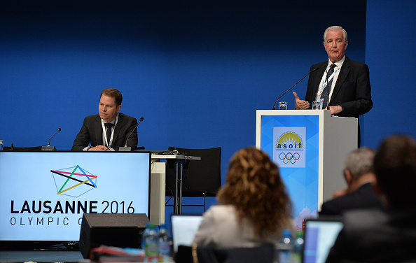 WADA officials Olivier Niggli and Craig Reedie at a conference earlier this year in Lausanne, Switzerland, the IOC's home base // Getty Images