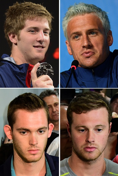 Clockwise: Feigen, Lochte, Conger, Bentz // Getty Images