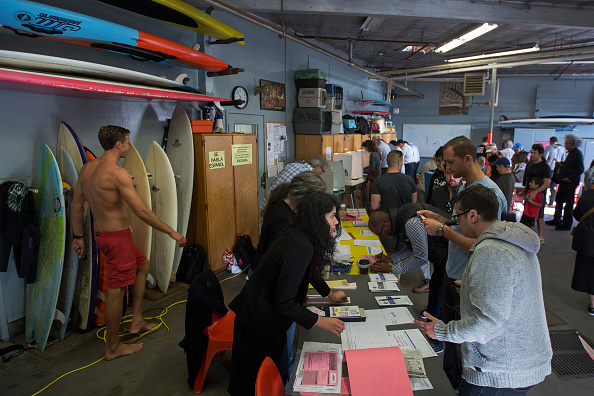 Voting in Venice Beach. This is California // Getty Images