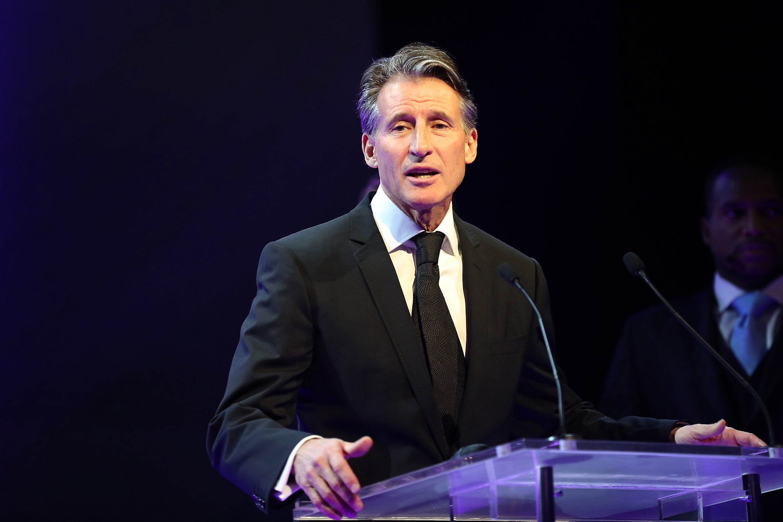 IAAF president Seb Coe at last Friday's federation awards ceremony in Monaco // Getty Images for IAAF