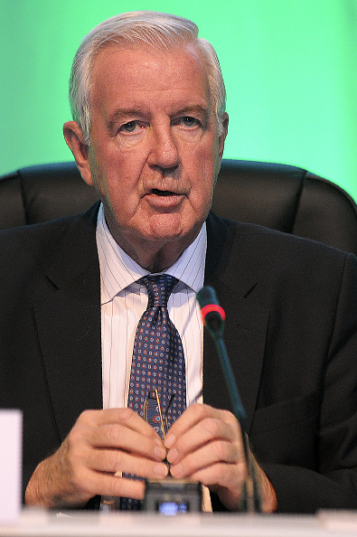 WADA president Sir Craig Reedie at a meeting last month in Scotland // Getty Images