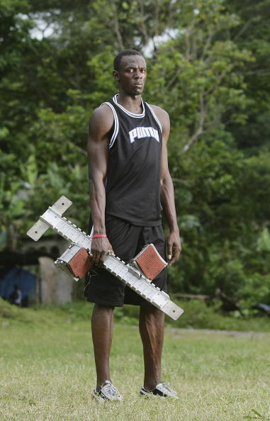 "Bolt in 2006 in Jamaica -- identified in the photo records as a ""200 and 400 sprinter"" // Getty Images"