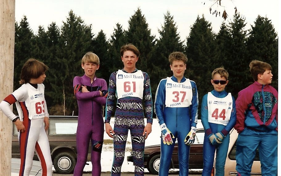 Lake Placid back in the day -- purple suit: future world champion Lowell Bailey, No. 61 Olympic gold medalist Billy Demong, No. 37 world medalist Tim Burke // Helen Demong