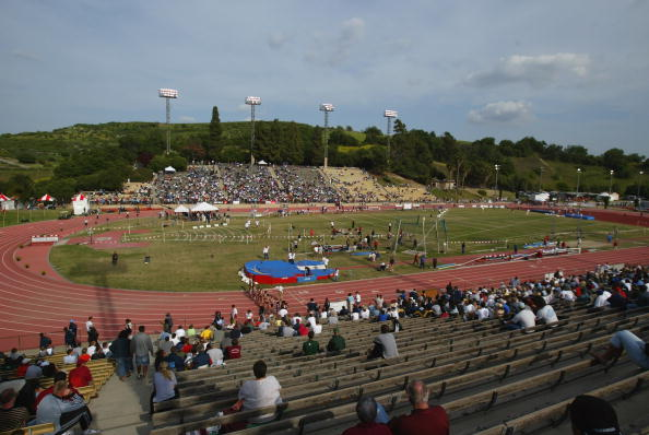 A 2004 view of Hilmer Lodge stadium at Mt. SAC // Getty Images