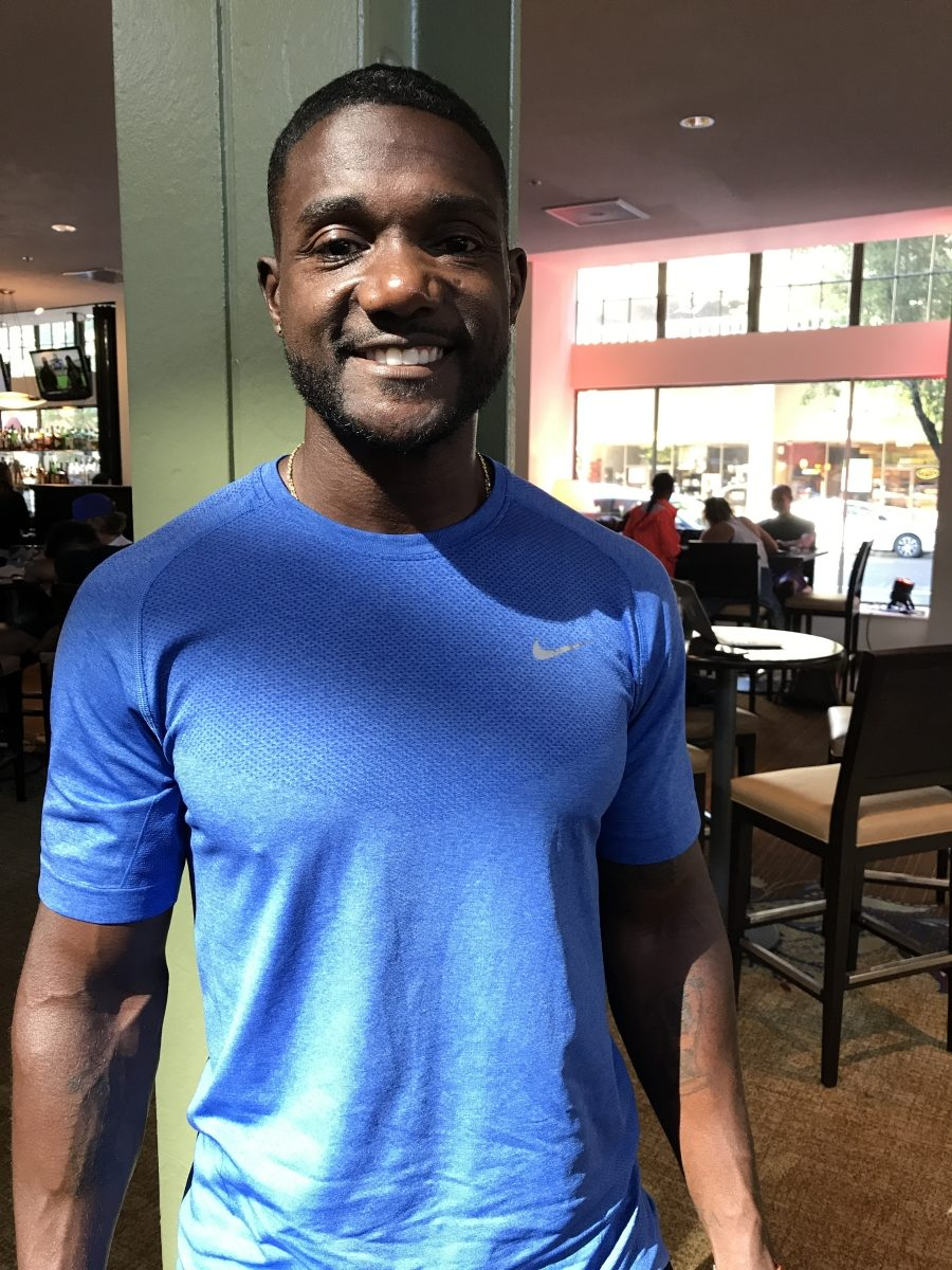 Justin Gatlin after the 2017 U.S. outdoor championships