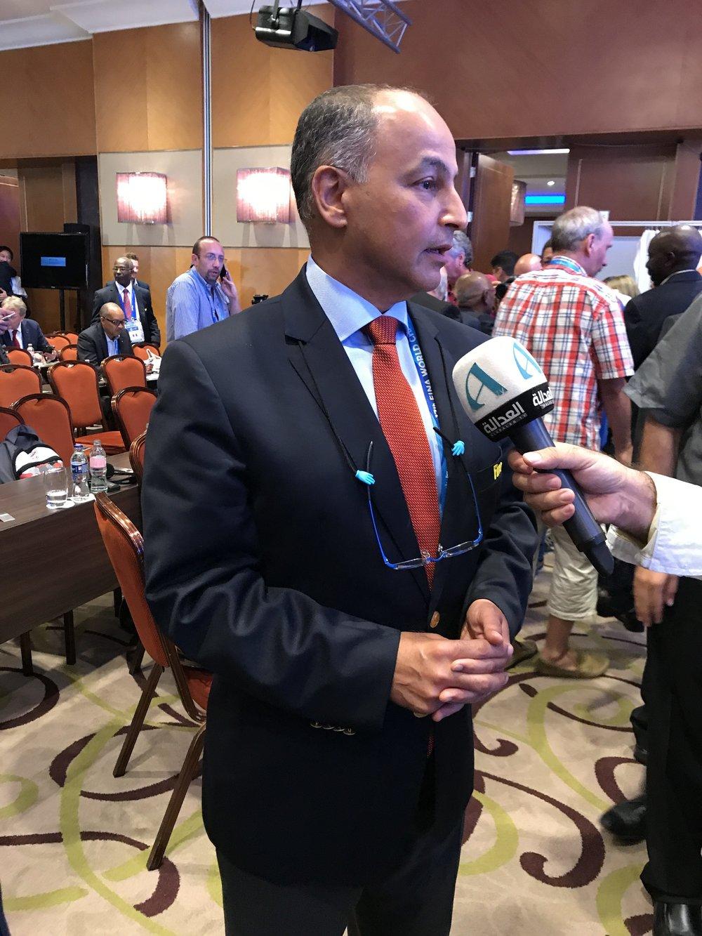 Husain al-Musallam of Kuwait, FINA first vice-president