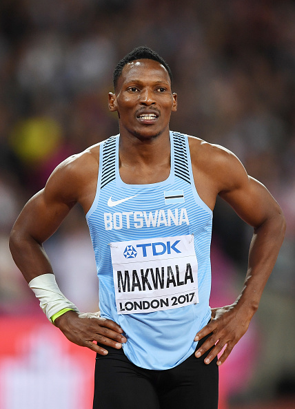Makwala after the 200 // Getty Images