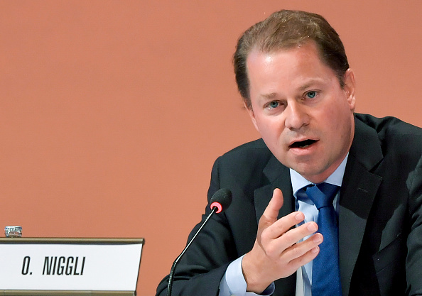 WADA director general Olivier Niggli at the iOC assembly in Peru earlier this month // Getty Images