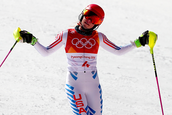 Not Mikaela Shiffrin's day: fourth in the slalom, her signature event // Getty Images