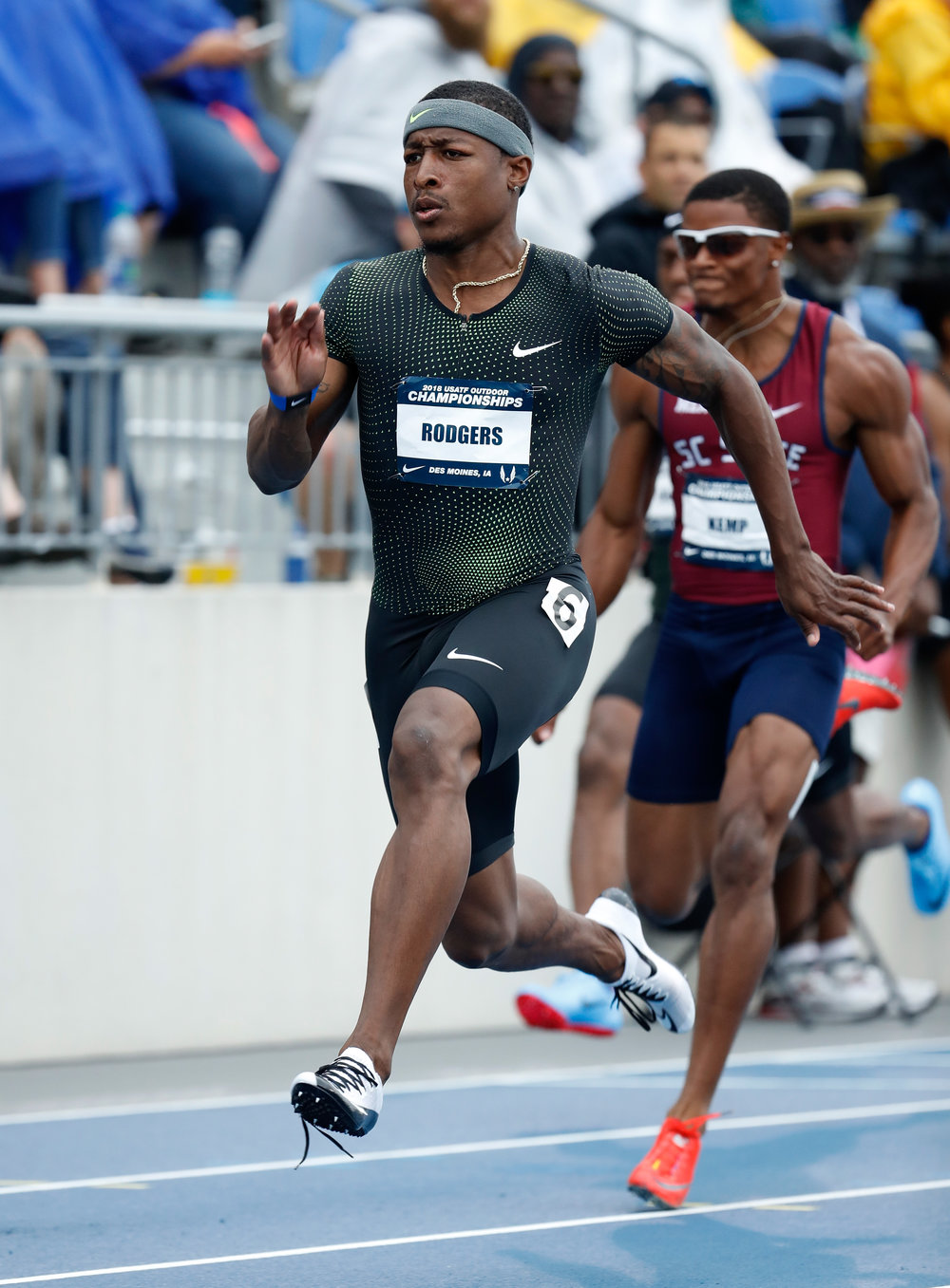 Mike Rodgers running Thursday in Des Moines at the US championships // Getty Images