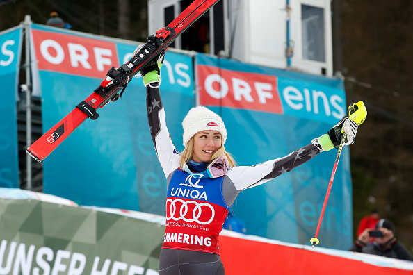 Shiffrin post-race Saturday in Semmering, Austria // Getty Images