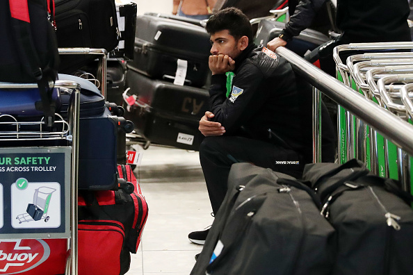 Members of the Bangladesh cricket team on their way out of Christchurch — most of the team was just yards away from the Al Noor mosque when the shooting began // photo Getty Images