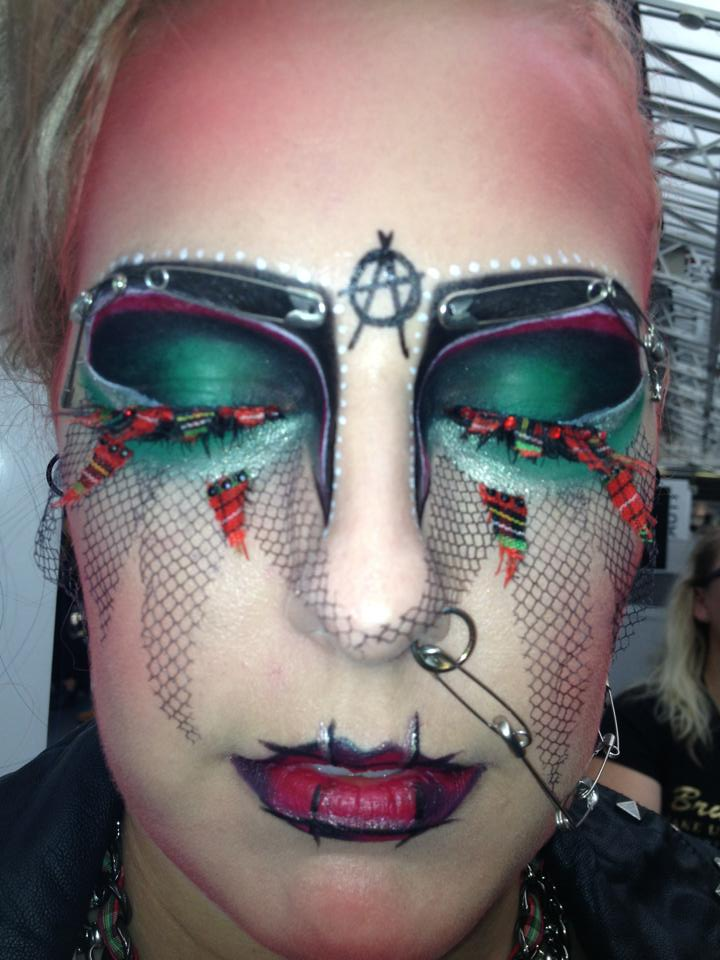 Award-winning look; 1st Place Make-up at the Art of Make-up Competition, Olympia Beauty, London 2013