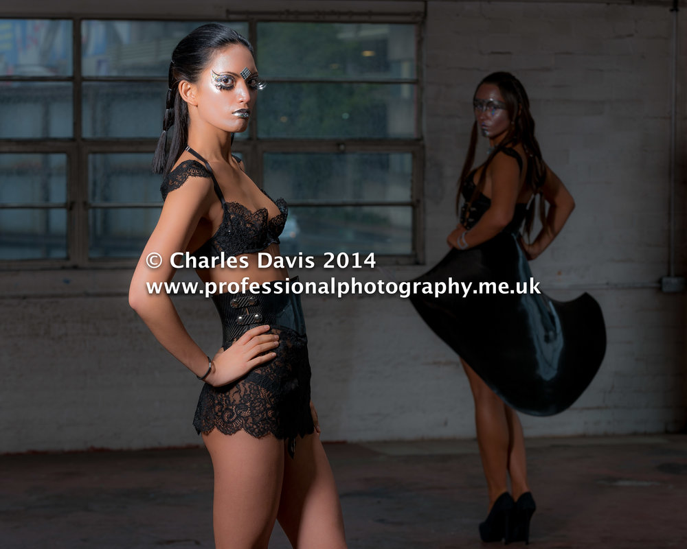 Futuristic photo shoot with Charles Davis Photography