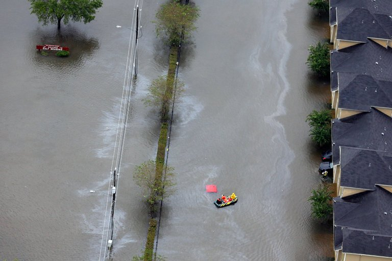 Floodwaters in Houston after Hurricane Harvey. (photo: David J. Phillip/Associated Press)