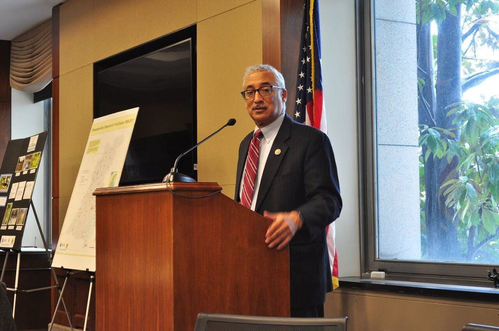Congressman Bobby Scott (VA-03) braved the snow to speak to us at lunch.