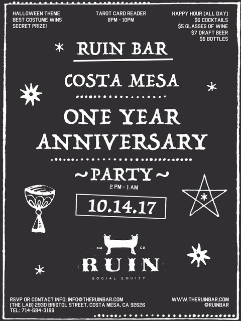 Ruin bar one year anniversary party the lab rbflyer02eg stopboris Image collections