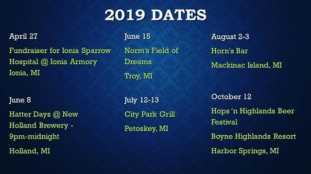 Hey look. We're playing. Come play with us.  We're also doing several private events not listed here. If you're invited to those, you should go. If not, then you really shouldn't. Unless you bring snacks. For the band.