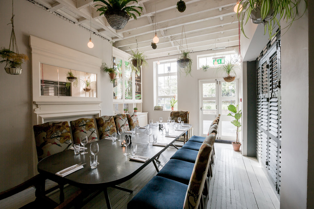 The private dining room at B&H Buildings in Exmouth Market