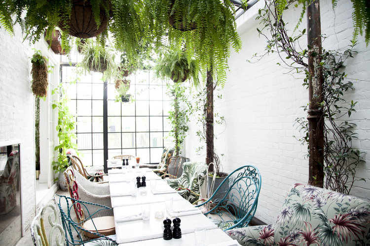 The Greenhouse - Private dining amongst the plants for up to 22 guests seated, prices to hire starting from £1,000 minimum spend.