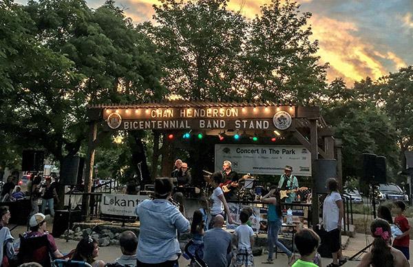 pleasanton concert in park